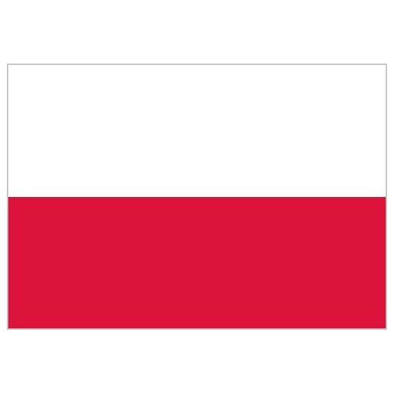 'Bandera de Polonia de Poliéster Microperforada Reforzada