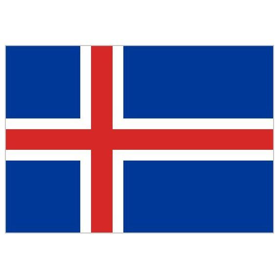 Bandera de Islandia de Poliéster Microperforada Reforzada