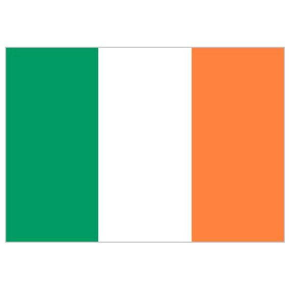 Bandera de Irlanda de Poliéster Microperforada Reforzada