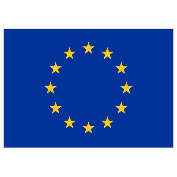 Bandera de Unión Europea de Poliéster Microperforada Reforzada
