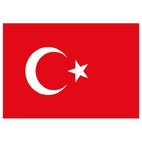 'Bandera de Turquía de Poliéster Microperforada Reforzada