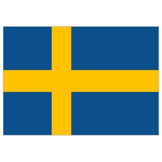 'Bandera de Suecia de Poliéster Microperforada Reforzada