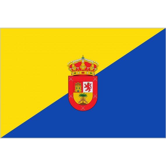 Bandera de Gran Canaria Con Escudo de Poliéster Microperforada Reforzada
