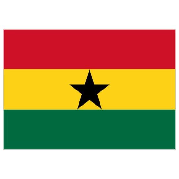 Bandera de Ghana de Poliéster Microperforada Reforzada