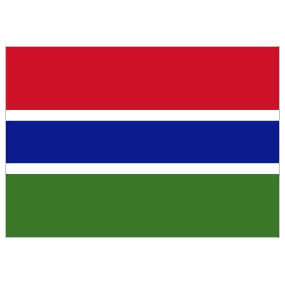 Bandera de Gambia de Poliéster Microperforada Reforzada