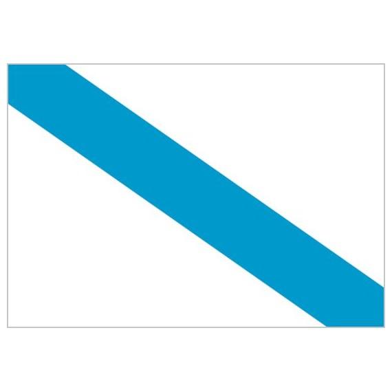 Bandera de Galicia Sin Escudo de Poliéster Microperforada Reforzada