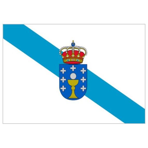 Bandera de Galicia Con Escudo de Poliéster Microperforada Reforzada