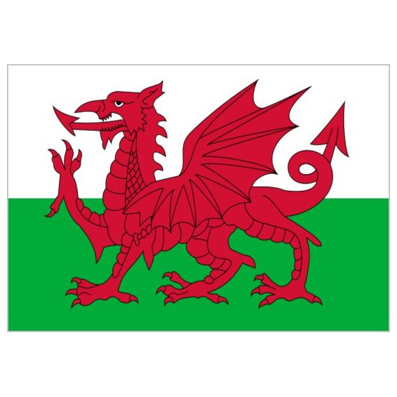 Bandera de Gales de Poliéster Microperforada Reforzada
