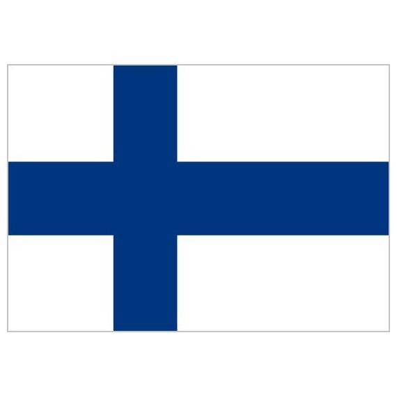 Bandera de Finlandia de Poliéster Microperforada Reforzada