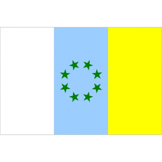 Bandera de Estrellas Verdes Canaria de Poliéster Microperforada Reforzada