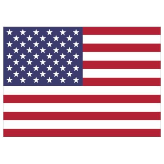 Bandera de Estados Unidos de Poliéster Microperforada Reforzada