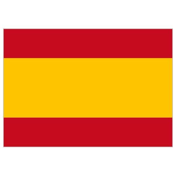.Bandera de España Sin Escudo de Poliéster Microperforada Reforzada