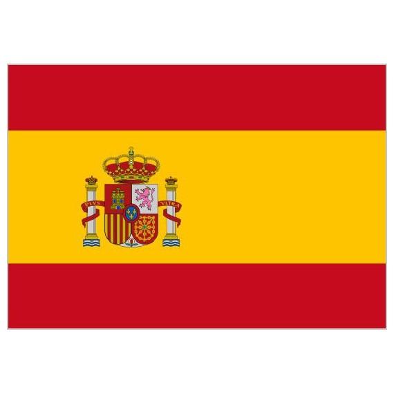 .Bandera de España Con Escudo de Poliéster Microperforada Reforzada