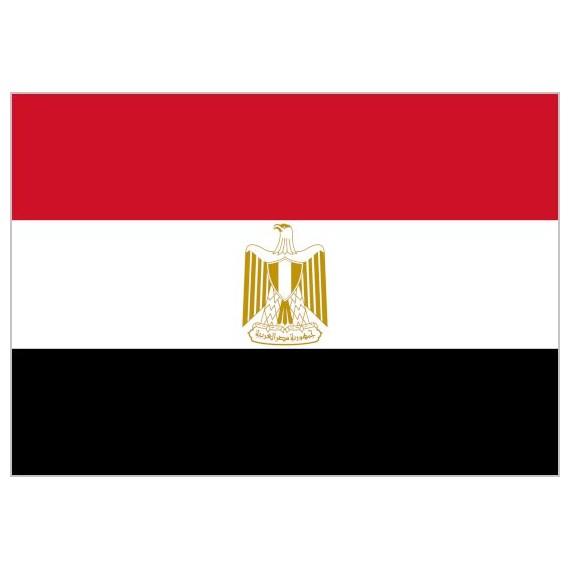 Bandera de Egipto de Poliéster Microperforada Reforzada
