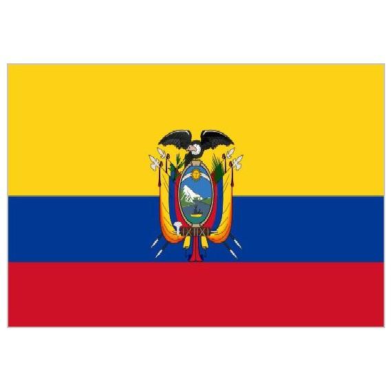 Bandera de Ecuador de Poliéster Microperforada Reforzada