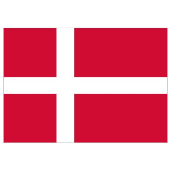 Bandera de Dinamarca de Poliéster Microperforada Reforzada