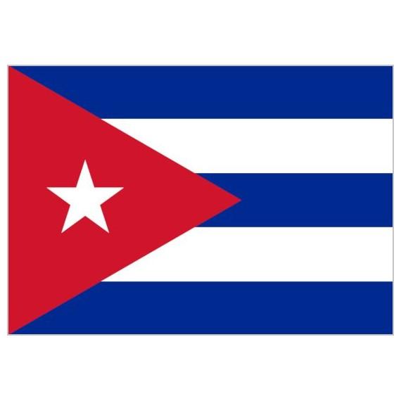 Bandera de Cuba de Poliéster Microperforada Reforzada