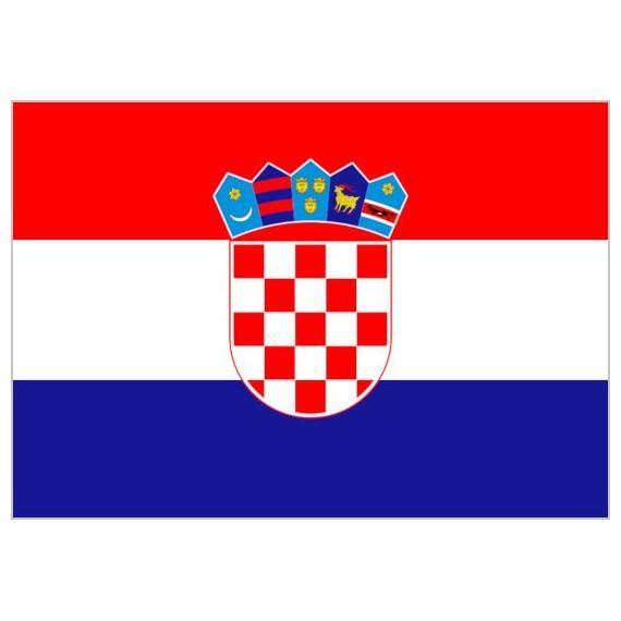 Bandera de Croacia de Poliéster Microperforada Reforzada