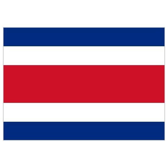 Bandera de Costa Rica de Poliéster Microperforada Reforzada