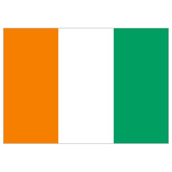 Bandera de Costa de Marfil de Poliéster Microperforada Reforzada