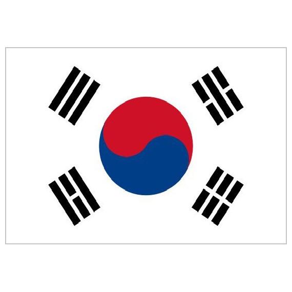 Bandera de Corea del Sur de Poliéster Microperforada Reforzada