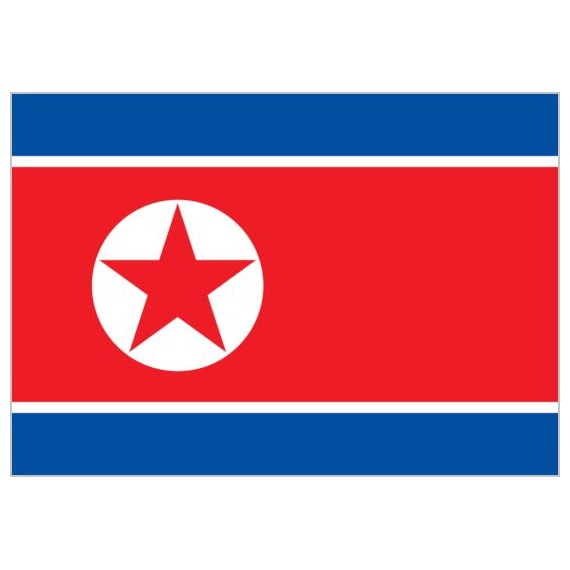 Bandera de Corea del Norte de Poliéster Microperforada Reforzada