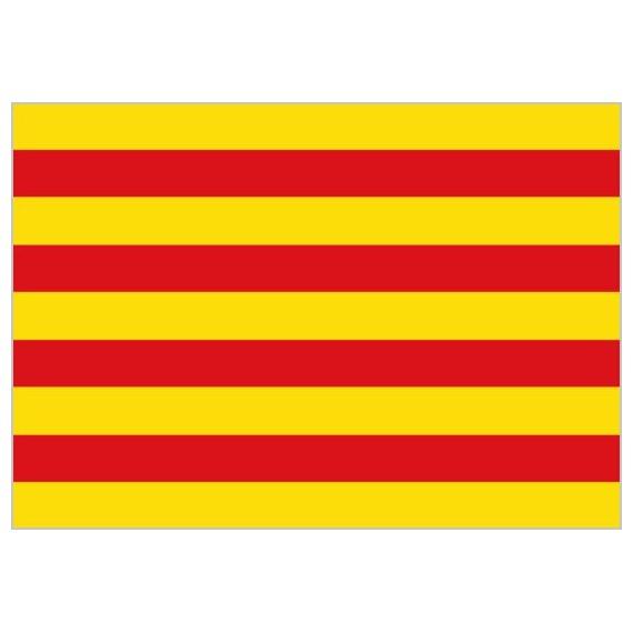 Bandera de Cataluña de Poliéster Microperforada Reforzada