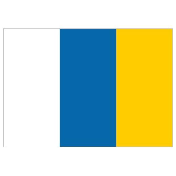 Bandera de Canarias Sin Escudo de Poliéster Microperforada Reforzada