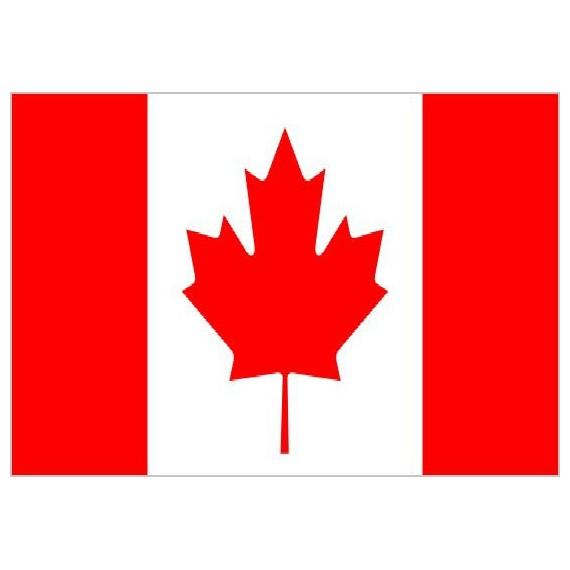 Bandera de Canadá de Poliéster Microperforada Reforzada