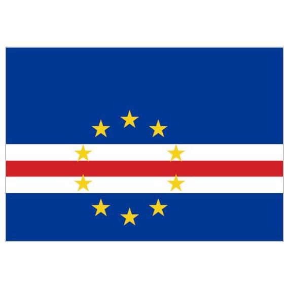 Bandera de Cabo Verde de Poliéster Microperforada Reforzada