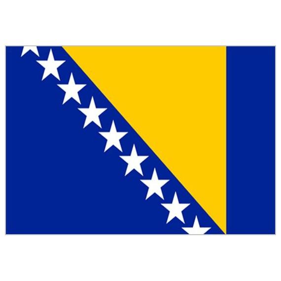 Bandera de Bosnia de Poliéster Microperforada Reforzada