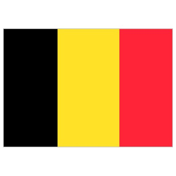'Bandera de Bélgica de Poliéster Microperforada Reforzada