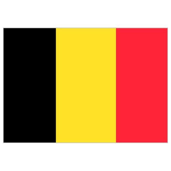 Bandera de Bélgica de Poliéster Microperforada Reforzada