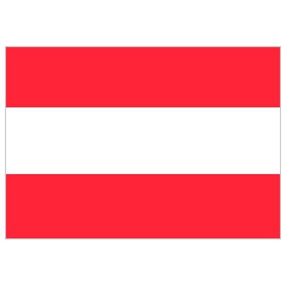'Bandera de Austria de Poliéster Microperforada Reforzada