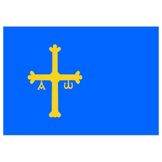 Bandera de Asturias de Poliéster Microperforada Reforzada