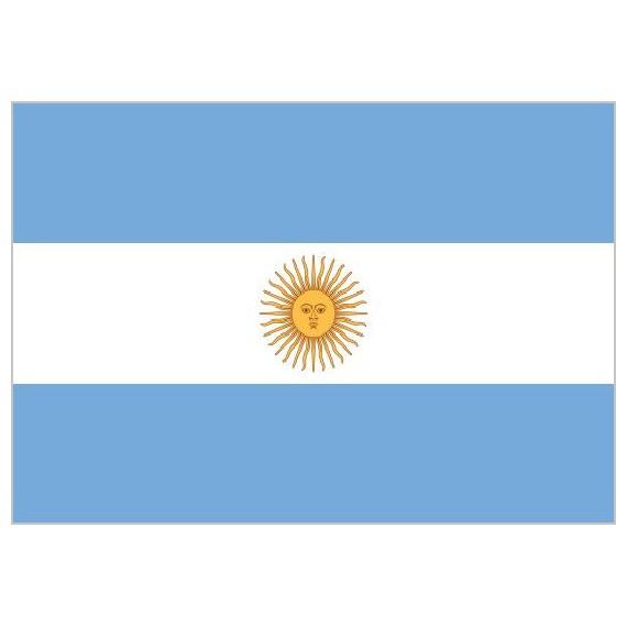 Bandera de Argentina de Poliéster Microperforada Reforzada