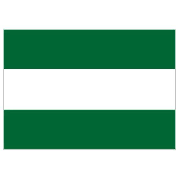 .Bandera de Andalucía Sin Escudo de Poliéster Microperforada Reforzada