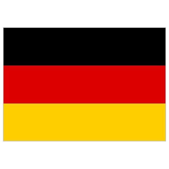 Bandera de Alemania de Poliéster Microperforada Reforzada