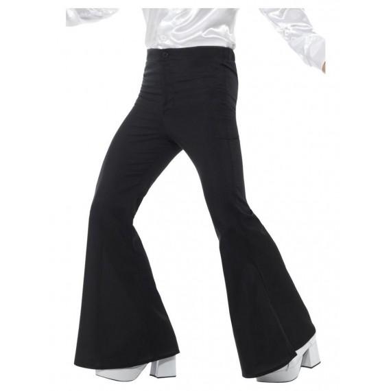 Pantalón de Campana de color Negro para Adulto