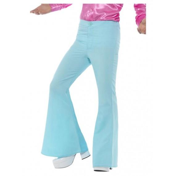 Pantalón de Campana de color Azul para Adulto