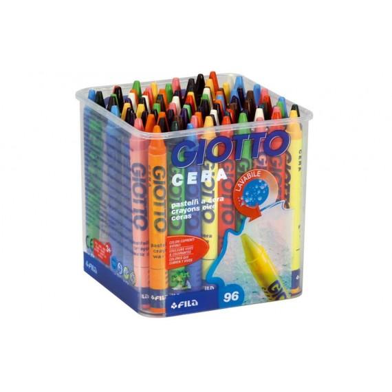 Cera 96 Unidades en 12 Colores Marca Giotto