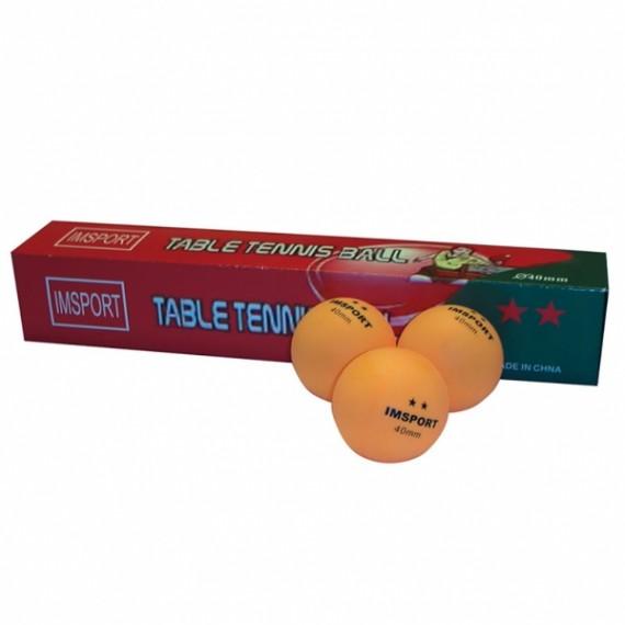 Pelota para Tenis de Mesa 6 Unidades de color Naranja 2 Estrellas