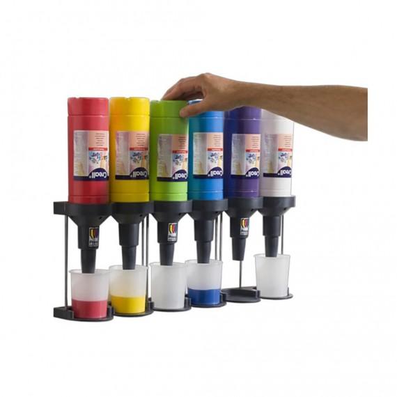Dispensador 4 Unidades para Pintura Creall