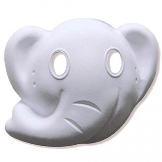 Máscara para Pintar con forma de Cara de Elefante