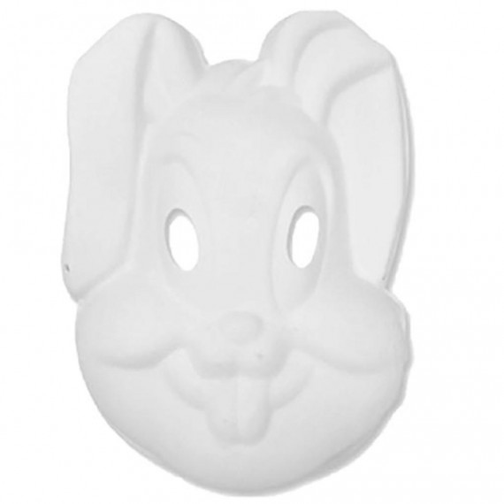 Máscara para Pintar con forma de Cara de Conejo