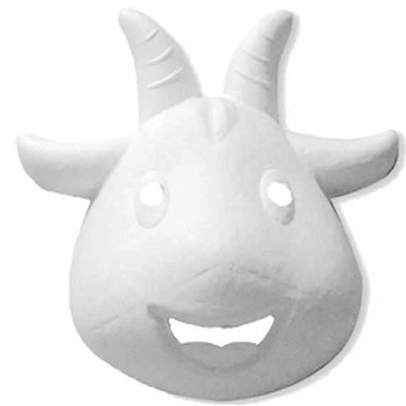 Máscara para Pintar con forma de Cara de Cabra