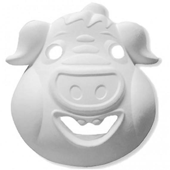 Máscara para Pintar con forma de Cara de Cerdo