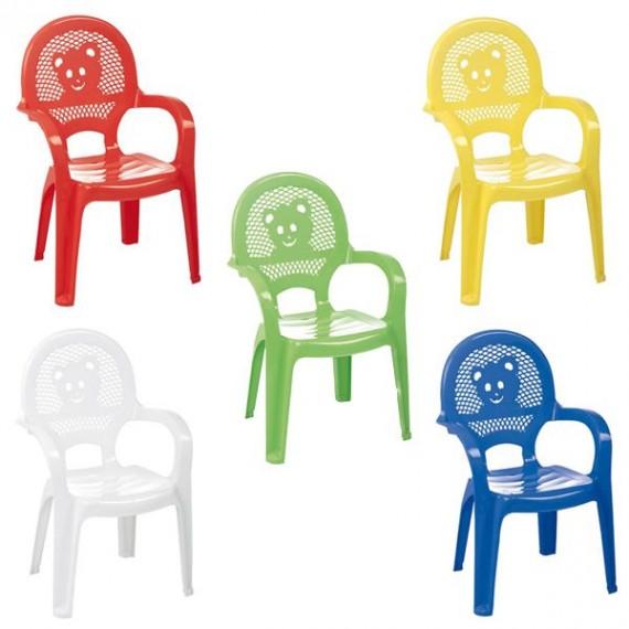 Silla de Plástico Infantil Varios Colores de 38 x 38 x 53 Centímetros