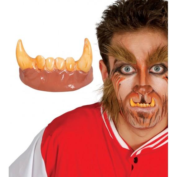 Dientes Colmillos de Hombre Lobo de PVC para Adulto