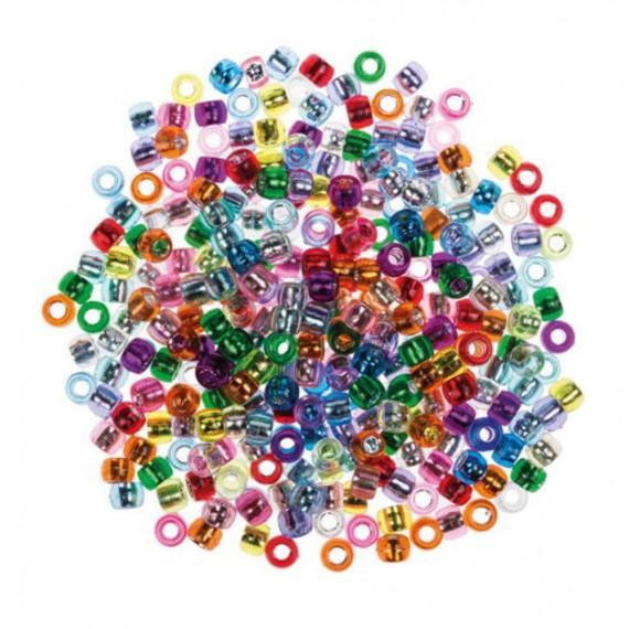 Pack de 600 Cuentas Metalizadas Colores Surtidos
